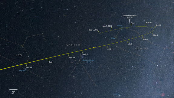'Comet of the Century': Comet ISON Stars in Mother's Day Webcast Today