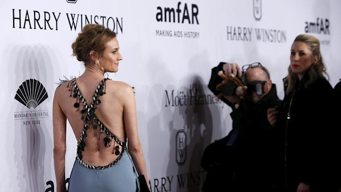 Actress Diane Kruger attends the 2016 amfAR New York Gala at Cipriani Wall Street in Manhattan New York