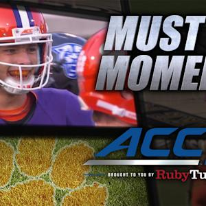 Clemson's Stoudt Completes Pass Without An O-Line | ACC Must See Moment