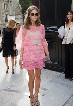 Olivia Palermo Looks Pretty In Pink At Valentino Couture. Here's How To Get The Look