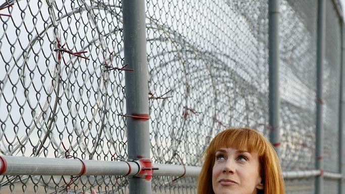 Kathy Griffin at Perryville Penitentiary in Arizona on Kathy Griffin: My Life On The D-List.