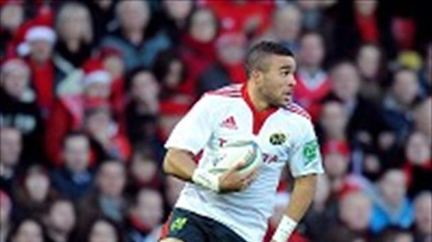 Simon Zebo claimed a hat-trick of tries in Munster's triumph over Racing Metro