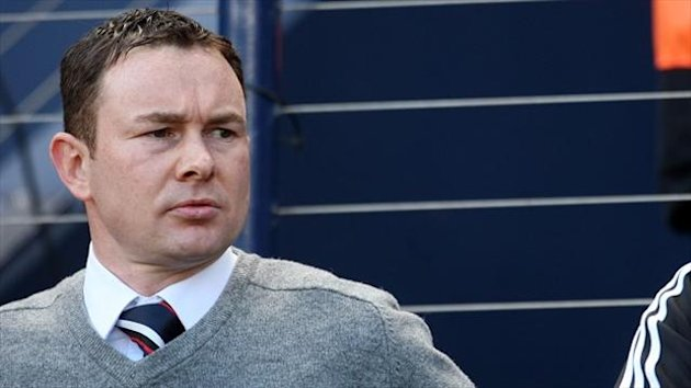 Derek Adams, pictured, wants Richie Brittain available against Celtic