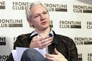 WikiLeaks founder Julian Assange speaks at a news conference in