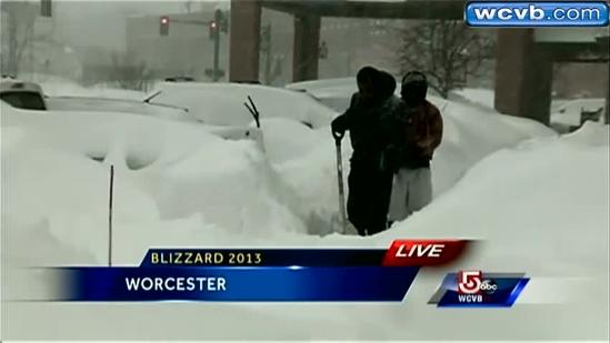 Worcester digging out from two feet of snow