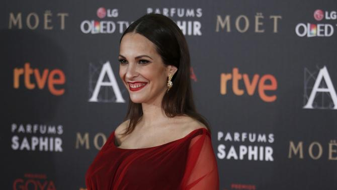 Director Ortiz poses on the red carpet before the Spanish Film Academy's Goya Awards ceremony in Madrid
