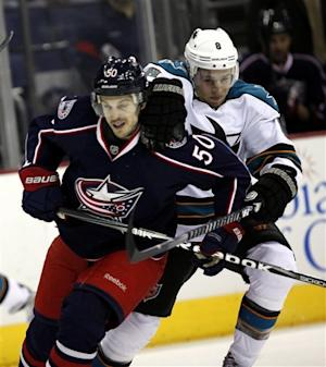 Blue Jackets double up Sharks 6-3