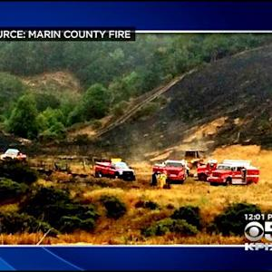 Pilot Found Dead In Wreckage Of Downed Plane In Marin County As Firefighters Battle Brush Fire