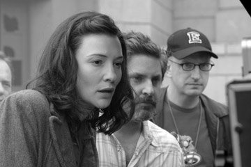 Cate Blanchett , producer Gregory Jacobs and director Steven Soderbergh on the set of Warner Bros. The Good German