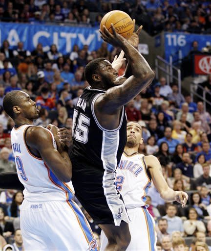 Spurs build big lead, hold off Thunder 114-105