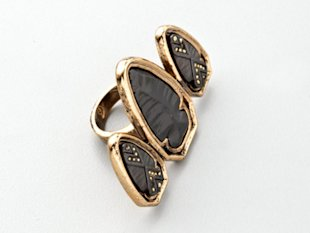 House of Harlow 1960 Triple Arrowhead Ring