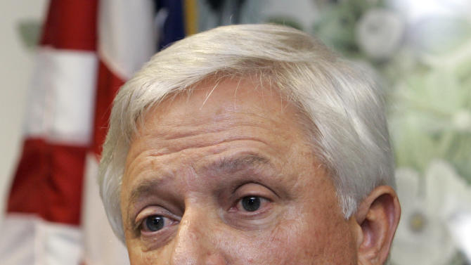 "FILE - In this 2007 file photo,  James D. ""Buddy"" Caldwell speaks to the media in Baton Rouge, La.  Caldwell, Louisiana's Attorney General, has spent nearly 24 million building the state's legal case against BP over the 2010 Gulf of Mexico oil spill,  with much of the money paid to outside law firms that have contributed to his campaigns. (AP Photo/Alex Brandon, File)"