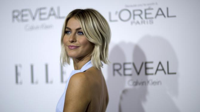 Julianne Hough poses at the 21st annual ELLE Women in Hollywood Awards in Los Angeles
