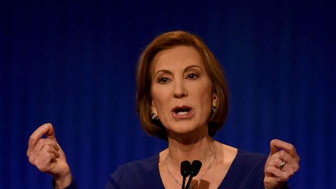 Republican presidential candidate Carly Fiorina during the under card Republican debate on January 14, 2016