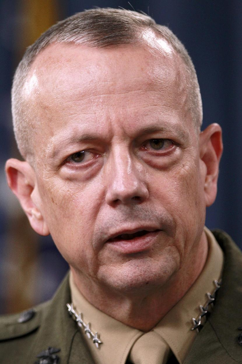 Marine Gen. John Allen, the top U.S. commander in Afghanistan speaks during a news conference at the Pentagon, Monday, March 26, 2012. (AP Photo/Haraz N. Ghanbari)