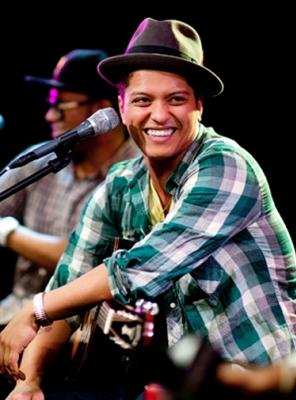 Bruno Mars performs at radio station Q102's Studio Q Philadelphia, PA, on September 25, 2010  -- Getty Premium