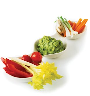 Vegetables and guacamole, Feb 13, p93