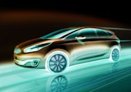 A teaser image for the Kia Carens, to debut at 2012 Paris Auto Show (September 29- October 14)