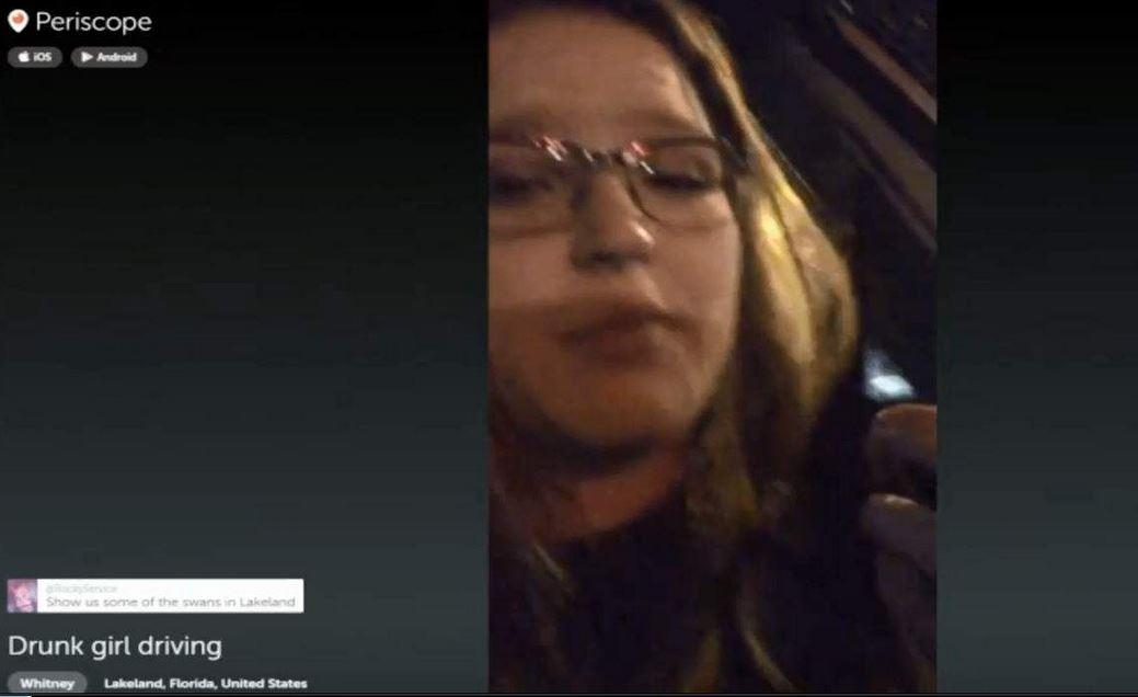 Police: Woman Periscopes Her Drunk Driving, Gets Arrested for DUI