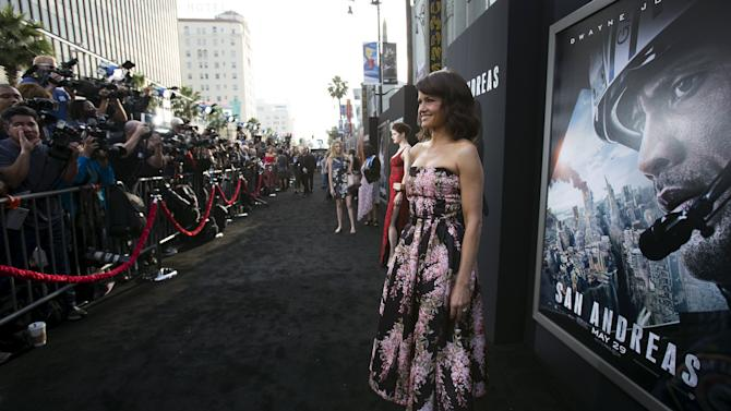 "Cast member Gugino poses at the premiere of ""San Andreas"" in Hollywood"