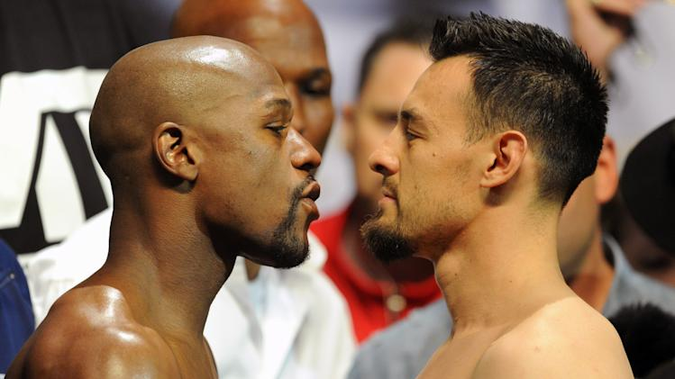 Boxing: Floyd Mayweather vs Robert Guerrero-Weigh-In