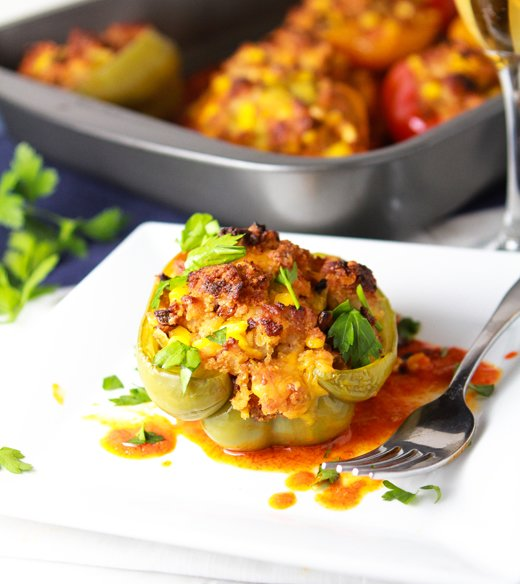 Cornbread-Stuffed Peppers