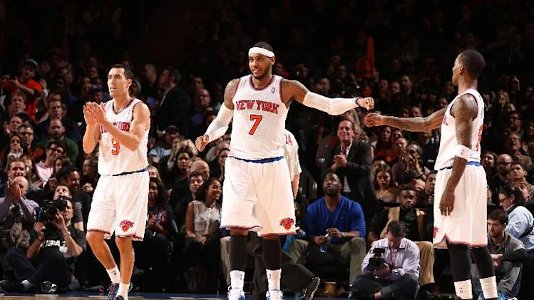 Knicks pull away for 117-90 victory over Nuggets