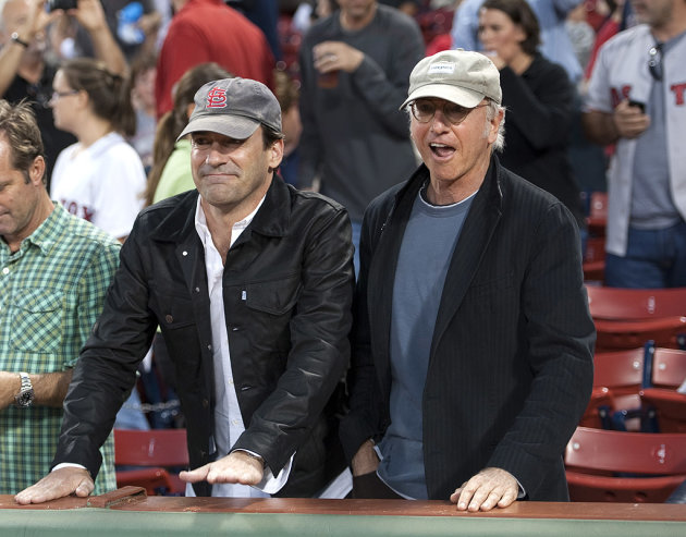Jon Hamm, Larry David
