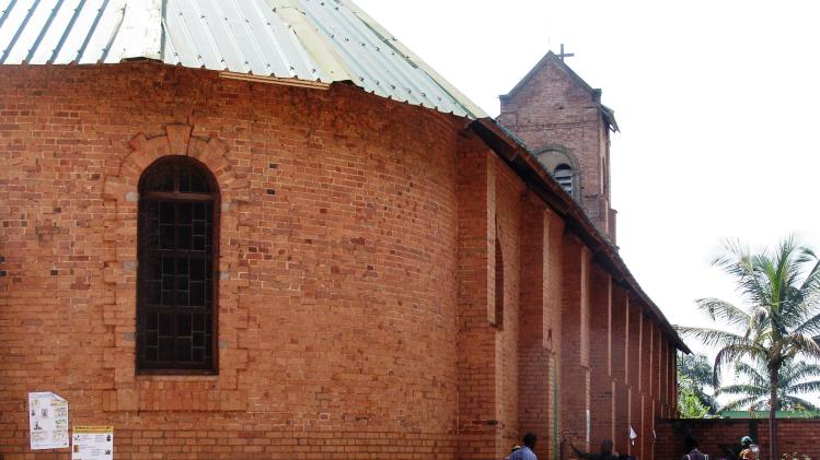Internally displaced people escaping violence take shelter at Bangui's Saint Paul's Church