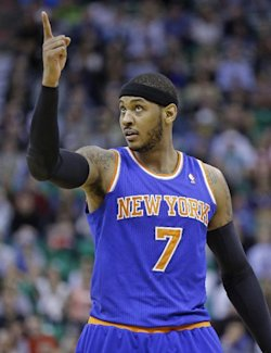 Carmelo Anthony met with the Knicks on Thursday. (AP)