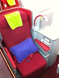 Hong Kong Airlines&#39; new first-class cabin