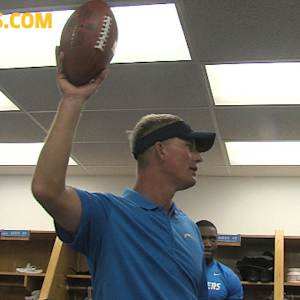 San Diego Chargers quarterback Philip Rivers wins game ball
