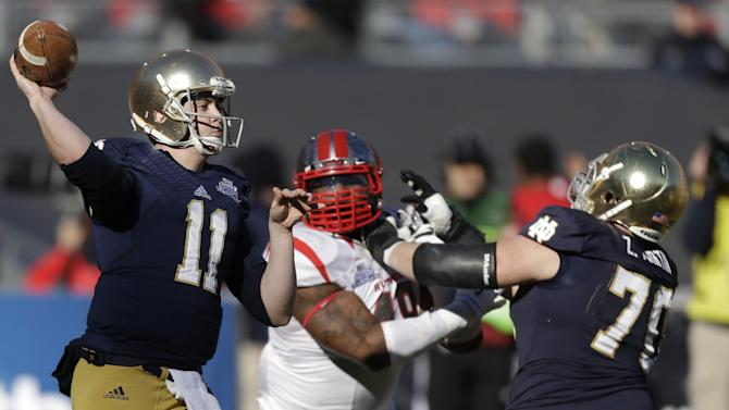 Notre Dame beats Rutgers 29-16 in Pinstripe Bowl