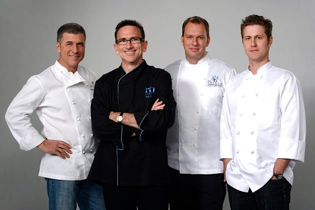 "Chefs Michael Chiarello, Rick Moonen, Nils Noren, and Lachlan Mackinnon-Patterson compete in ""Top Chef: Masters.""."