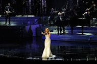 "Singer Celine Dion performs in Las Vegas, Nevada, on March 15, 2011. China's hugely popular Lunar New Year television galas aim to woo even more viewers this year with foreign megastars including Celine Dion and ""Gangnam Style"" pop sensation Psy, state media said Thursday"