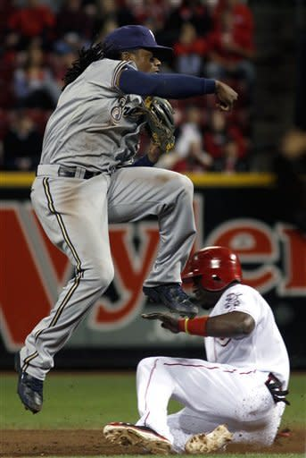 Reds' 4-2 win hurts Brewers' playoff chances