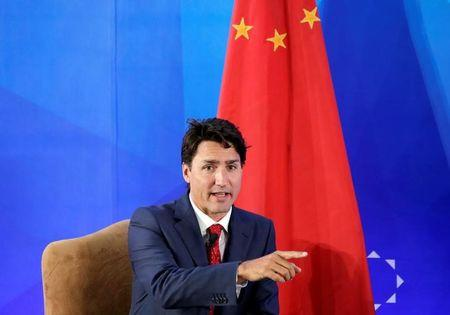 Canada's Prime Minister Justin Trudeau attends the China Entrepreneur Club Leaders Forum in Beijing