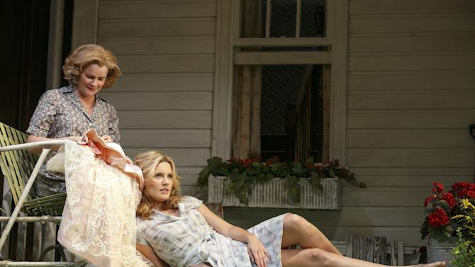 """This undated theater image released by Boneau/Bryan-Brown shows Mare Winningham, left, and Maggie Grace from a production of the Roundabout Theatre Company's """"Picnic."""" (AP Photo/Boneau/Bryan-Brown, Joan Marcus)"""