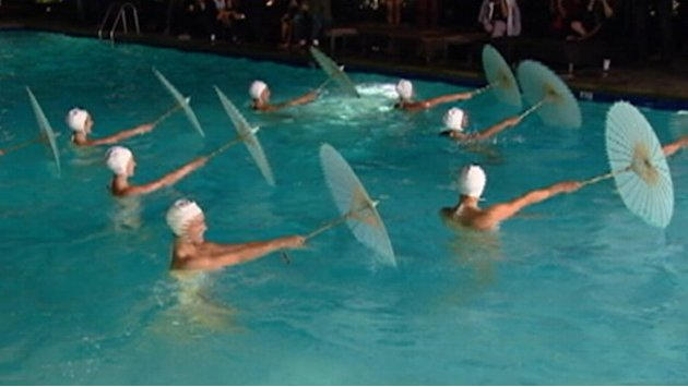 Glamorous Synchronized Swimmers Make Big Hollywood Splash