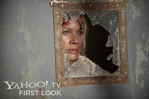 "Andrea (Laurie Holden) in ""The Walking Dead"" episode, ""Prey."""