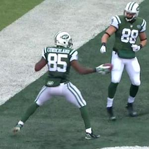 New York Jets tight end Jeff Cumberland catches 20-yard TD pass, celebrates with style
