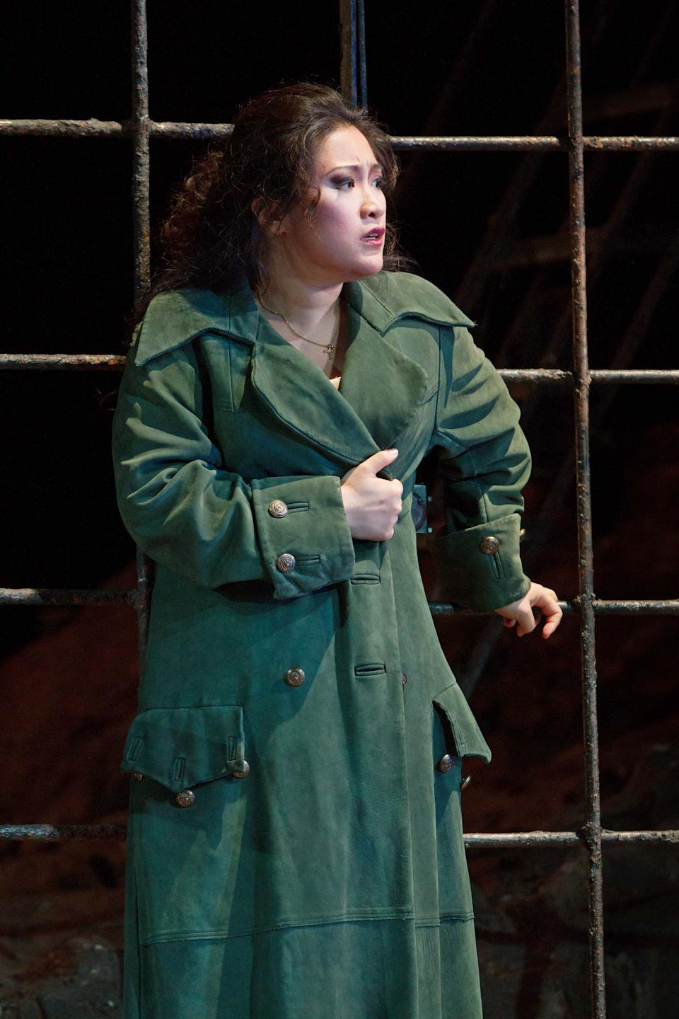 "In this Sept. 27, 2012 photo provided by the Metropolitan Opera, Guanqun Yu plays the role of Leonora during a dress rehearsal of Verdi's ""Il Trovatore,"" at the Metropolitan Opera in New York. (AP Photo/Metropolitan Opera, Marty Sohl)"