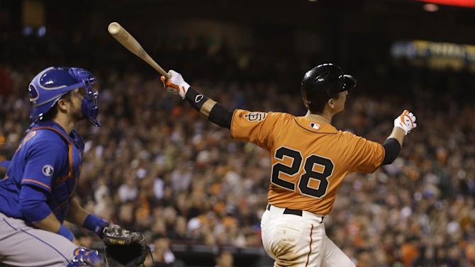 Posey's homer leads Giants to 4-2 win over Mets