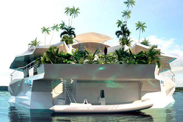 Man-made, floating island goes on sale