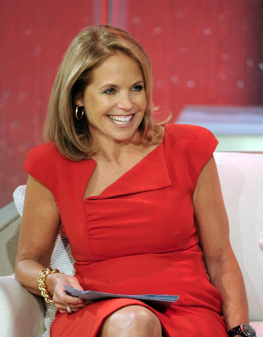 "This Aug. 9, 2012 photo released by Disney-ABC Domestic Television shows host Katie Couric during a taping of her new talk show ""Katie."" Couric's new show will debut on Monday, Sept. 10. (AP Photo/Disney-ABC Domestic TV, Ida Mae Astute)"