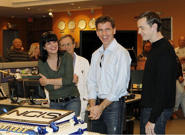 "Pauley Perrette, David McCallum, Brian Dietzen, and Sean Murray attend CBS' ""NCIS"" celebration of their 200th episode on January 3, 2012 in Valencia, California."