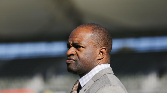 NFLPA Executive Director DeMaurice Smith watches on the sidelines during the NFLPA Collegiate Bowl on Saturday, Jan. 19, 2013 in Carson, Calif. (Ric Tapia/AP Images for NFLPA)