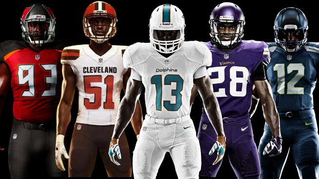 All of the Recently Redesigned NFL Uniforms, Ranked