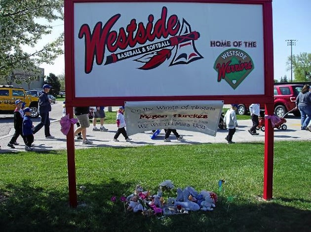 The Westside youth baseball league sign — Westside Warriors Baseball and Softball