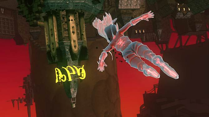 """This image provided by Sony shows action from the game """"Gravity Rush""""  for the PlayStation Vita. (AP Photo/Sony)"""
